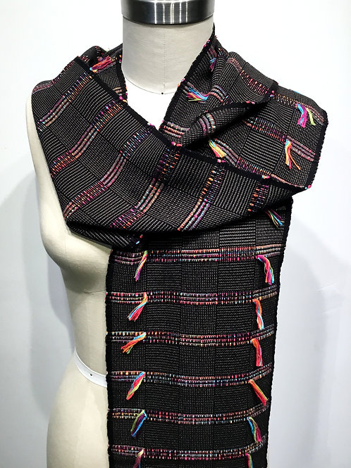 PW11 Hand woven bamboo scarf by Pamela Whitlock