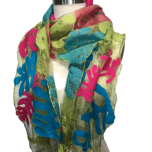 Illusion Scarf Silk and Merino Wool One of a kind by Barbara Poole
