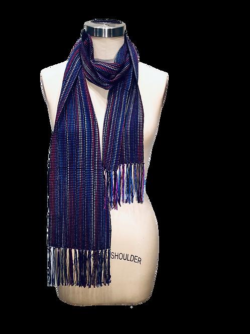 Handwoven Ribbon Scarf by Dahlia Popovits