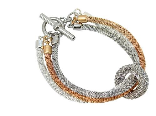 EZN07   3 -strand Mesh bracelet by Erica Zap