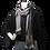 Thumbnail: Black and White handwoven Lisa Scarf