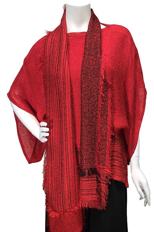 Red 3 piece ensemble