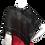 Thumbnail: Black with black and white ribbon handwoven Mobius Wrap