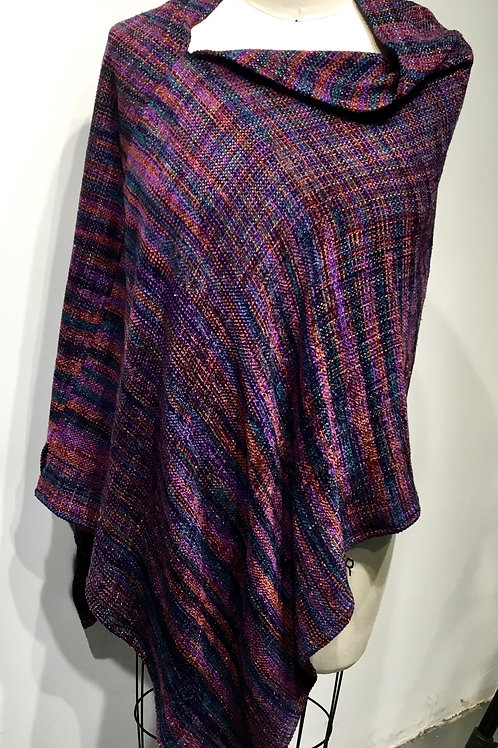 Hand woven and handmade poncho.
