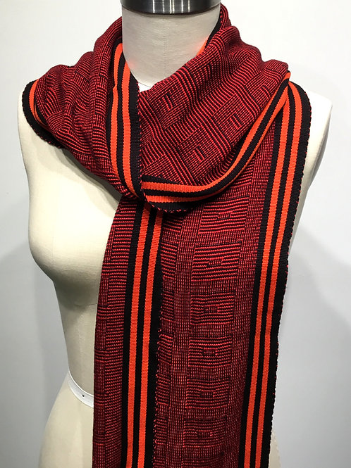 PW18 Hand woven scarf by Pamela Whitlock