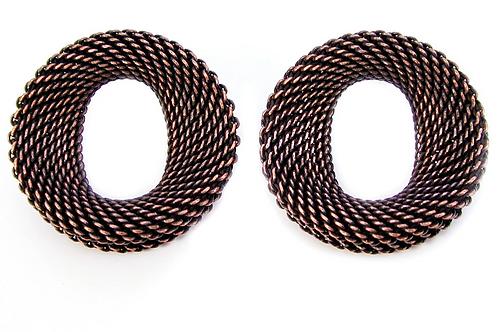 EZN10  Large Contoured Oval Mesh Earrings by Erica Zap
