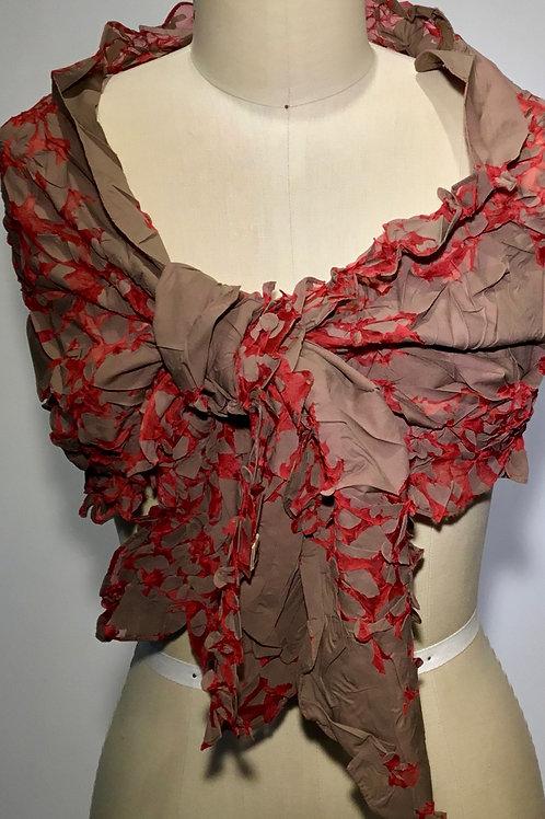 YO101 Shibori scarf/wrap by Yuh Okano