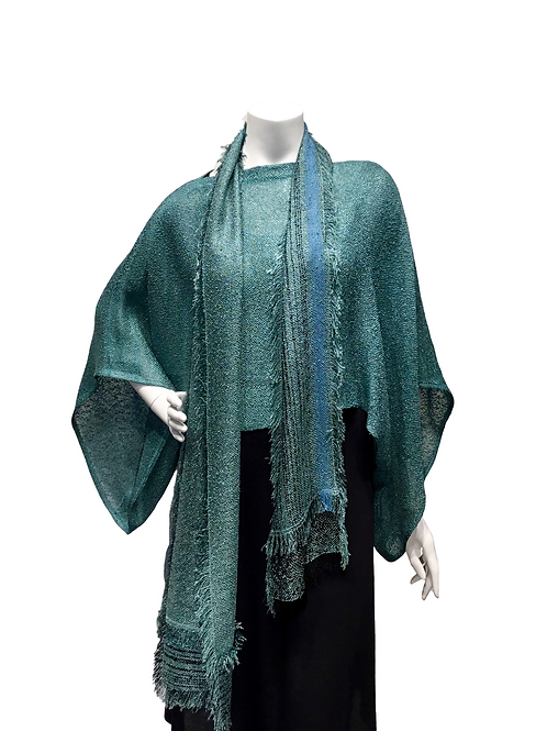 Teal Handwoven 3 piece ensemble