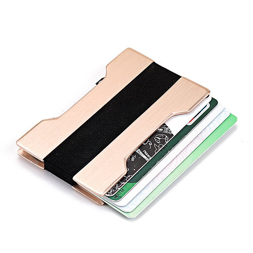 Slim Minimalistic Aluminum Alloy Credit Card Holder