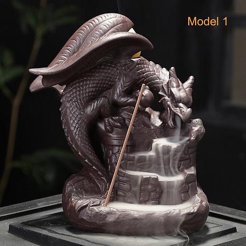 Auspicious Dragon Backflow Incense Burner