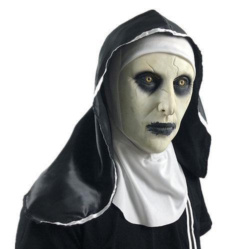 Halloween Horror Nun Latex Mask