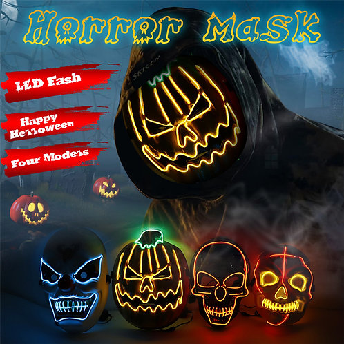 Scary Halloween EL Wire Light Up Masks