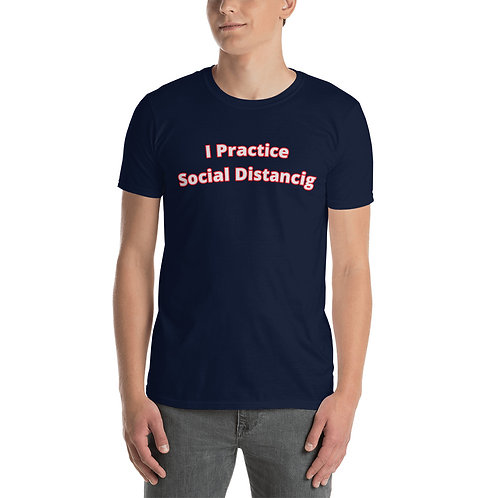 Social Distancing T-Shirt, Double-sided Print, Comfortable Unisex, Cotton Shirt