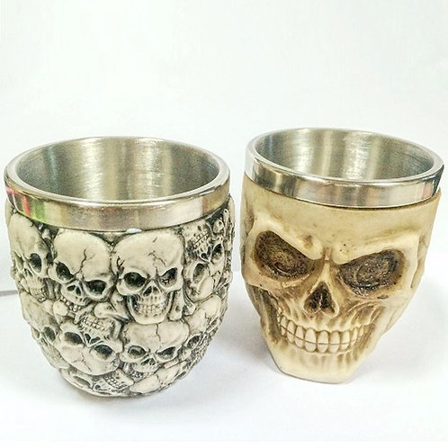Retro 3D Stainless Steel Skull Cup
