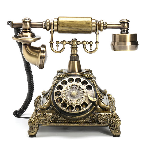 Vintage Antique Style Telephone with Classical Dial Wheel