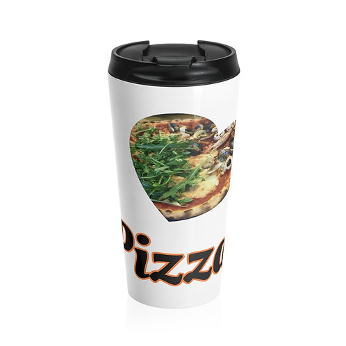 I love Pizza, Stainless Steel Travel Mug