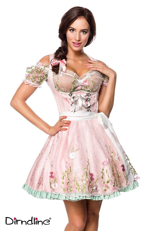 German Mini Brocade Dirndl with Blouse