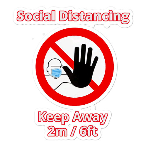 Social Distancing Bubble-free Stickers, Shipping included in USA and EU