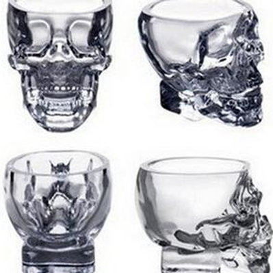 100ml Vodka Whiskey Clear Skull Bar Glass