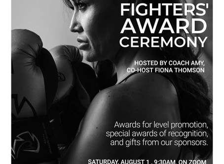 This Saturday -- Fighters' Award Ceremony!!!