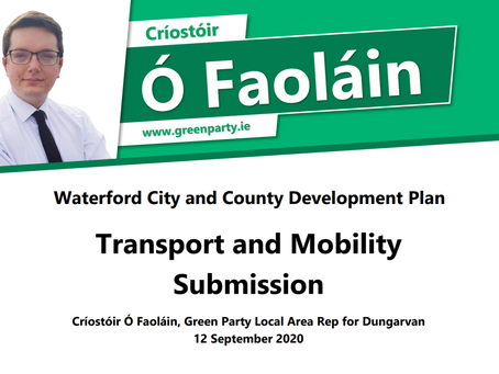 Submission - Waterford Development Plan - Transport and Mobility.