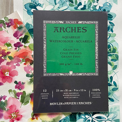 Arches Aquarell Block - einseitig verleimt
