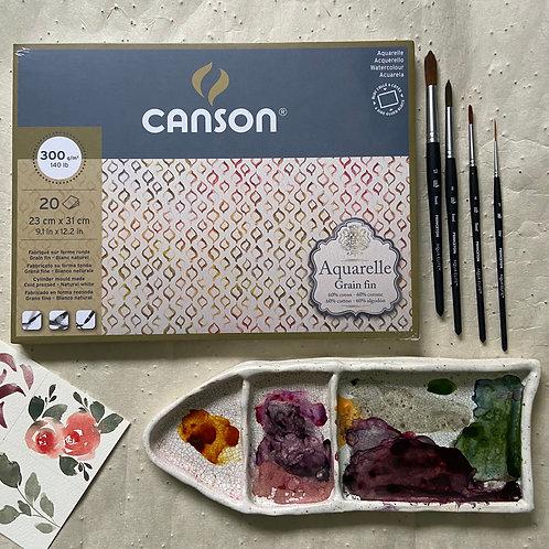 CANSON Aquarelle 23cm x 31cm