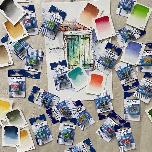 Van Gogh Aquarellfarbe -1/2 Näpfchen