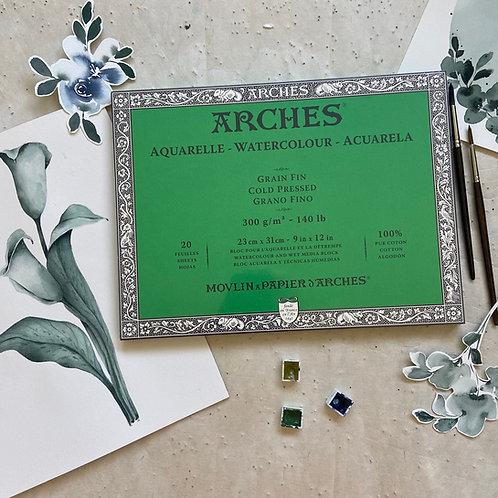 Arches Aquarellpapier - feine Körnung / 2 Grösse