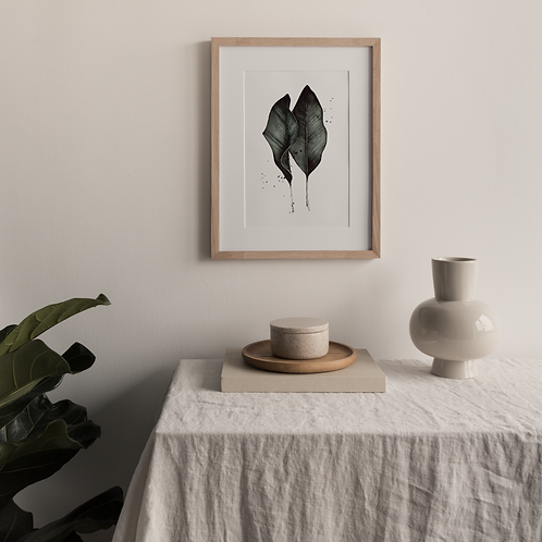 Signed FinArt Print: Two Leaves