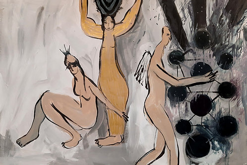 Spiritual painting on paper, Original art