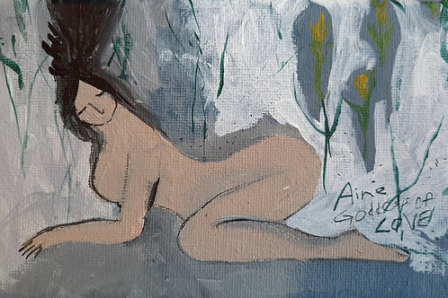AINE, Original nude woman painting
