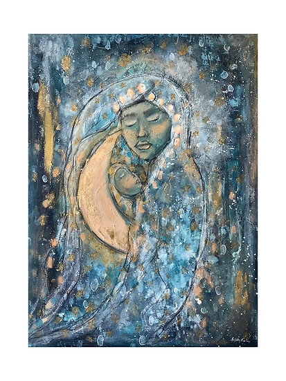 Moon and Child, 20x24 in