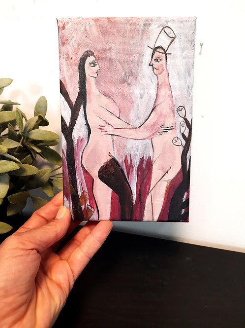 FLORA & ZAK, Original couple painting