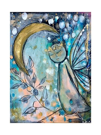 Butterfly Girl No.3, 8x10 in