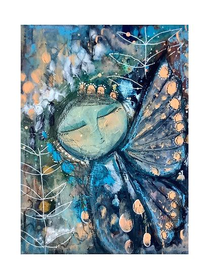 Butterfly Girl No. 1, 8x10 in