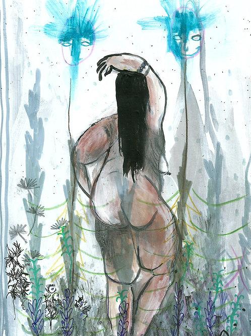 Pagan woman art, Original painting