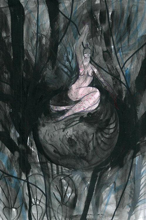 ANGELICA. Goddess painting original