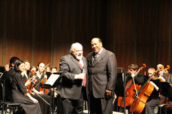 Maestro with Dr. Adolph Wright