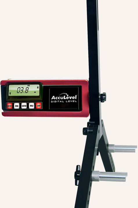 Longacre Digital Caster Gauge Camber Gauge and Quick Set Large Wheel Adapter