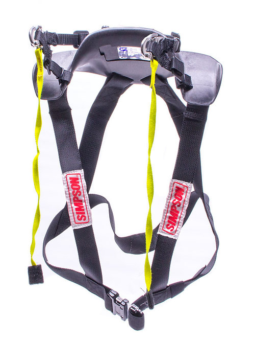 Simpson Hybrid Sport Head and Neck Restraint, Quick Release Anchor