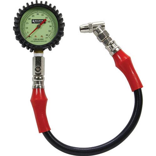 Allstar Performance Tire Pressure Gauge 0-60 psi, 0.5lb increments, Glow in Dark