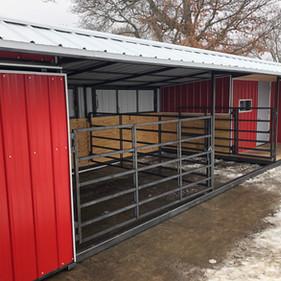 SHEEP STALLS AND TACK ROOM