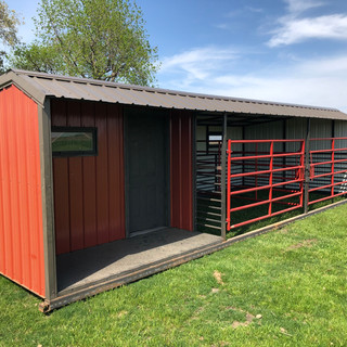 12 ft x 30 ft w Tack Room/2 Stalls