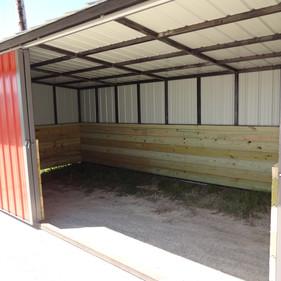 "10 x 20 Horse Shelter Wood Sides 48"" H"