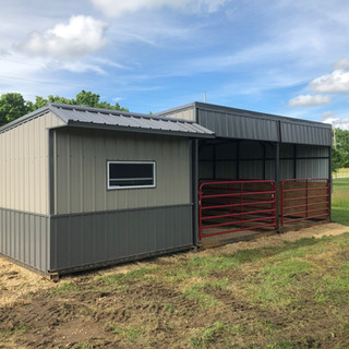 Shelter and tack room for horses