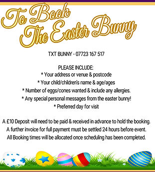 TO BOOK THE EATER BUNNY