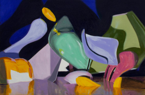 Shifted Forms, 2021, oil on canvas, 40 x 60 cm