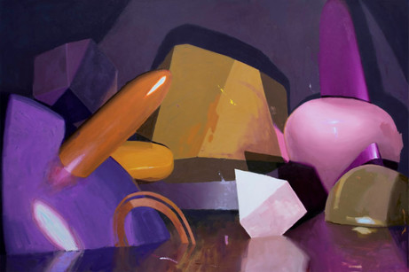 Plastic Banquet, 2020, oil on canvas, 120 x 180 cm