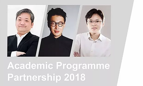 """Academic Programme Partnership 2018: Panel Discussion""""The Impact of Globalisation on the Primary and Secondary Art Markets"""".    Left to Right: Mr. Koei Shirashi, Director of Whitestone Gallery, Mr. Kenna Xu, and Ms. Jaco Cheung."""